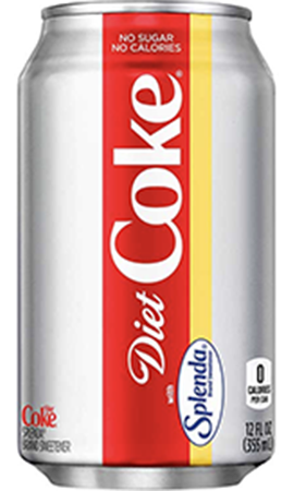 how much sucralose is in diet coke
